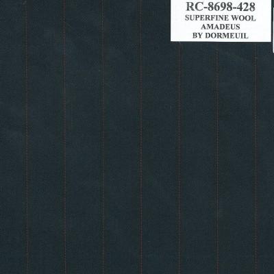Dormueil Suit Black Red Licorice, 100% Wool, 283.5 gm/m