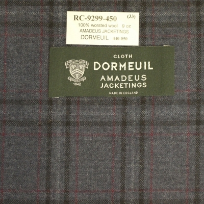Dormeuil Jacket - Blue with Red Check