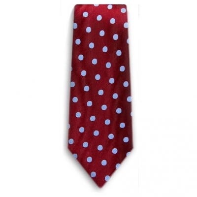Bocara  Burgundy - Blue silk neck tie