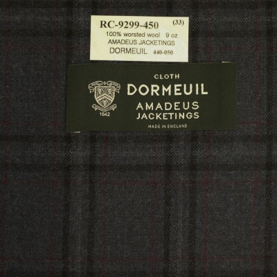 Dormeuil Jacket - Grey with Red Check
