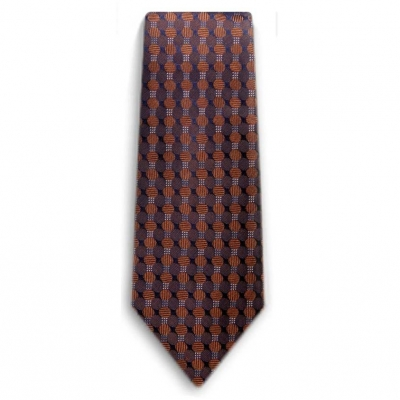 Bocara Brown - Navy silk neck tie