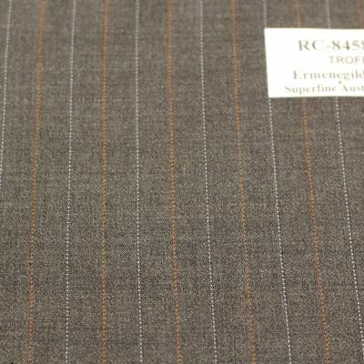 Trofeo, Ermenegildo Zegna, Superfine Australian Wool, Grey w. taupe, and Red&Orange pin stripe