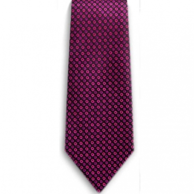 Bocara  Pink - Black silk neck tie