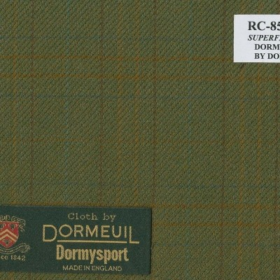 Dormueil Sport Coat Green Military, 100% Worsted Wool, 255 gm/m