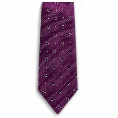 Bocara  Purple - Black silk neck tie