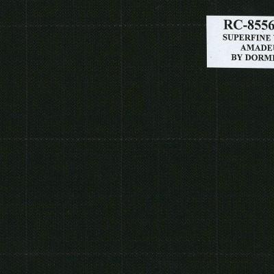 Dormeuil Suit Black Petrol, 100% Wool, 283.5 gm/m