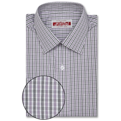 Real Cloth shirt Purple-black check REG. PRICE $149 SALE PRICE $129