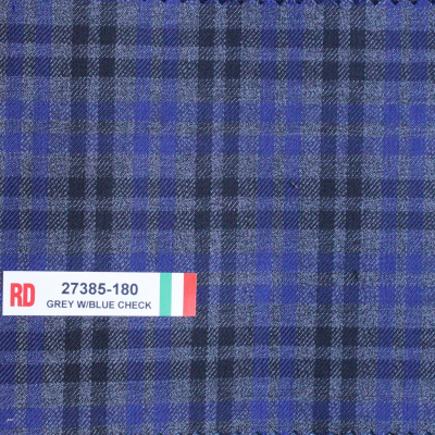 Real Clothes Sport Coat Blue Grey Check REG. price $690 Sale Price $495