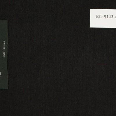 Dormeuil  Suit, Black Solid, 100% wool, 288 gm/m