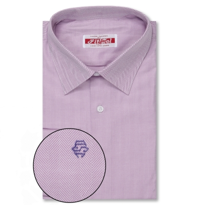 Real Clothes Shirt Purple Herringbone REG. PRICE $149 SALE PRICE $129