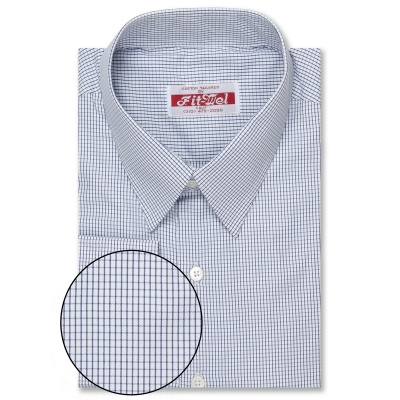 Real Clothes Poly Cotton Blue Checks REG. PRICE $119 SALE PRICE $99