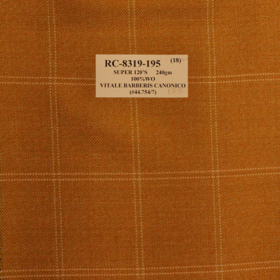 VITALE BARBERIS CANONICA Sport Coat ORANGE Check REG. price $690 Sale Price $495