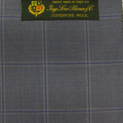 LORO PIANA SPORT COAT BLUE CHECK