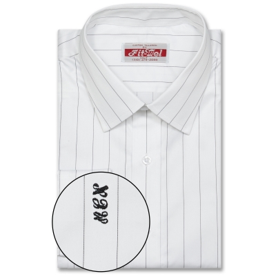 Real Cloth Shirt White with Black Stripe REG. PRICE $149 SALE PRICE $129