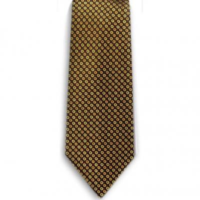 Bocara Yellow - Black silk neck tie