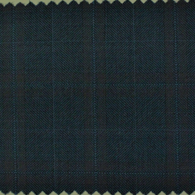 DORMEUIL SPORT COAT BLUE WITH MAROON CHECK REG. price $795 Sale Price $595