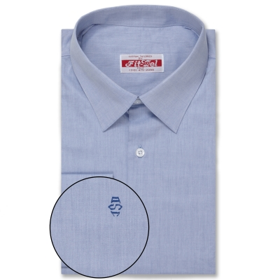 Real Clothes shirt Med Blue Solid REG. PRICE $149 SALE PRICE $129