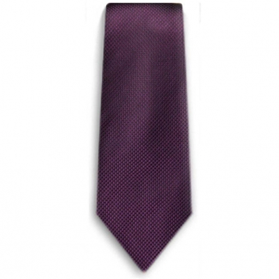 Bocara  Purple - Black silk neck tie