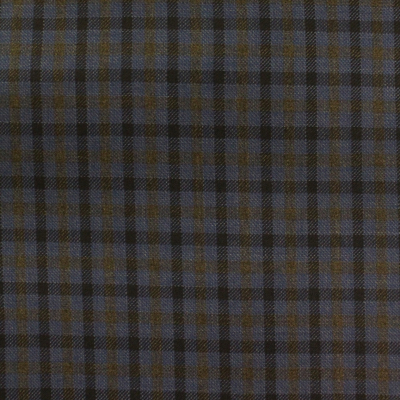 LORO PIANA SPORT COAT BLUE WITH BROWN CHECK