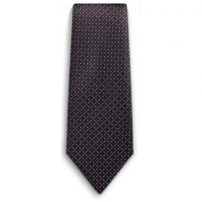 Bocara Green - Purple - White silk neck tie