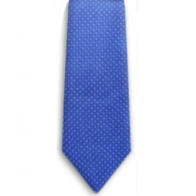 Bocara  Blue - White silk neck tie