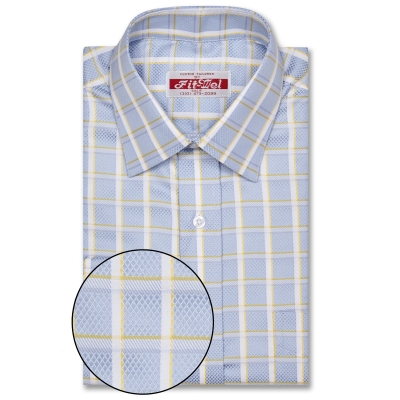 Real Cloth Shirt Blue with Yellow check REG. PRICE $149 SALE PRICE $129