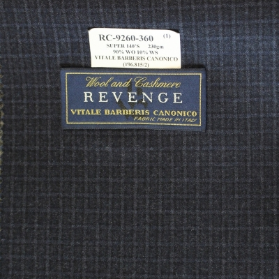 Vitale Barberis Canonico Jacket Blue Check REG. price $690 Sale Price $495