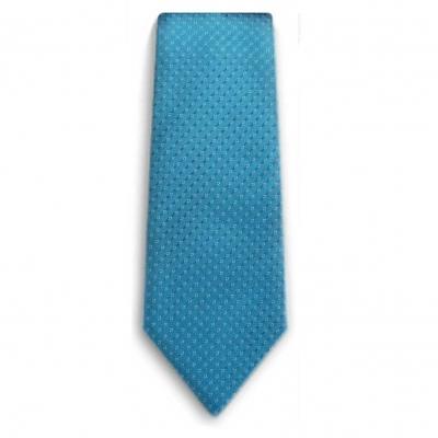 Bocara  Teal - White silk neck tie