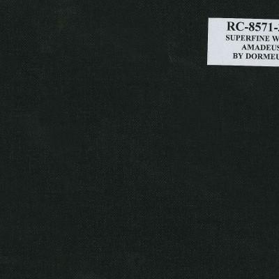 Dormueil Suit Black Denim, 100% wool, 10 Oz